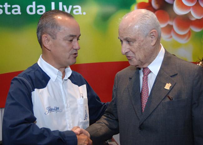 Diretor da Prosper com Lázaro Bradão (presidente do Conselho do Bradesco)